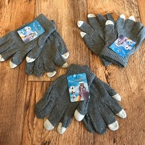 Other - Wholesale Lot of 3 Gloves Touchscreen Gray Gloves